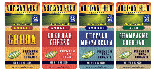 Artisan Gold Cheese labels